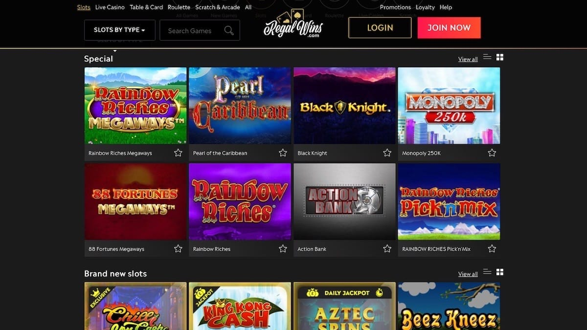 Regal Wins Casino Slot Games